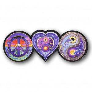 CS074 - Peace Love and Balance Sea Life Color Sticker