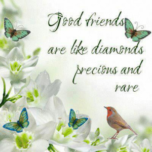 Good Friends are like diamonds percious and rare