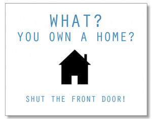 Hilarious HOMEOWNER card. Funny Housewarming card. Handmade & Eco ...