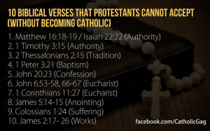 Catholic bible quote for protestants