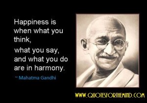 Gandhi, Happiness