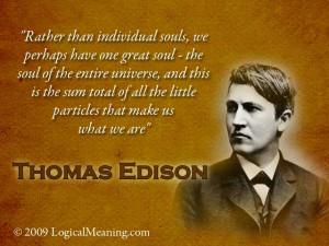 Thomas Edison quote.