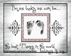Personalized baby footprint or handprint keepsake gift (PERFECT for ...