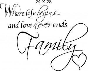 Word Quotes About Family ~ Wall Quotes,Wall Words,Family Quotes Buy ...