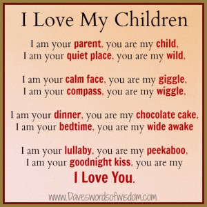 am you parent, you are my child,
