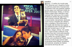 ... from carol to kaka every single word expresses the feelings of us kaka
