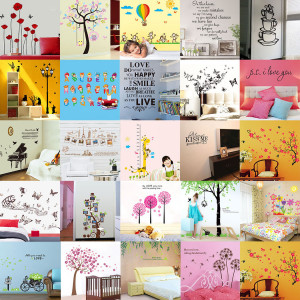 Wall Stickers Removable Home Nature Art Vinyl Decor DIY Quote PVC ...