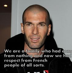 Zidane Quotes on football