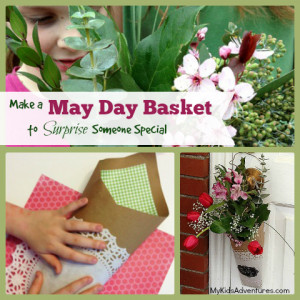How to make a May Day basket filled with flowers to celebrate ...