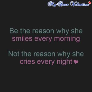 Love quotes for her - Be the reason why she