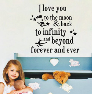 Quote-I-Iove-you-forever-Wall-Sticker-Kids-Nursery-Decor-DIY-Vinyl-Art ...