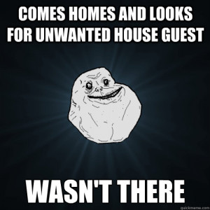 unwanted house guest wasn t there comes homes and looks for unwanted