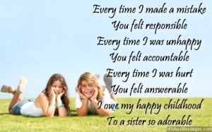 Thank you messages for sister: Thank you notes for sis