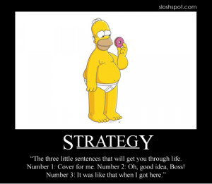 Homer Simpson Motivational Poster Strategy
