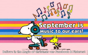 Welcome September! Snoopy Quote
