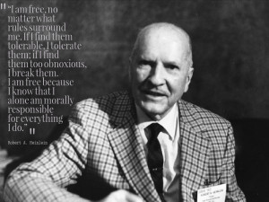 Robert A. Heinlein Quote On Being Free No Matter What The Law Tells Us