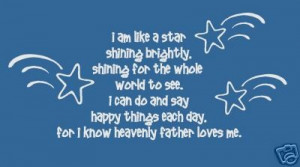 ... wall decal Shining Star vinyl lettering wall words quotes Children LDS
