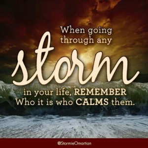 Calm the storm in your life with He who will bring peace and serenity ...