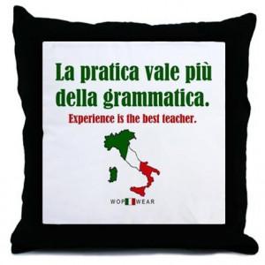 Italian Sayings Throw Pillow