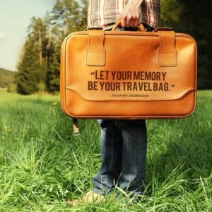 Let your memory be your travel bag travel quote