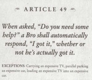 article 42 upon greeting another bro a bro can engage