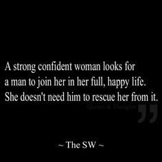 strong confident woman looks for a man to join her in her full ...