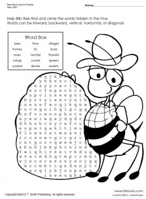 Honey Bee Word Search