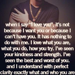 it dnt matter if i have u or want u or can t hav u il always love u
