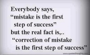 Nice success quotes thoughts mistakes correction best great