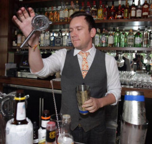 Bartender Scott Tipton prepared a drink at Julep a new cocktail