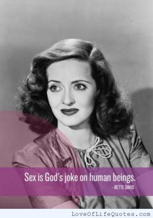 Bette Davis quote on gods joke