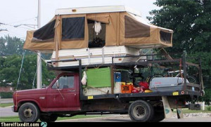 have a couple of redneck projects. The first one I use for camping ...