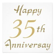 happy 35 years anniversary | Happy 35th Anniversary Gifts | Wedding ...