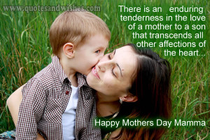 day quotes 2013 son1 Happy Mothers Day wishes from son. Mother and son ...