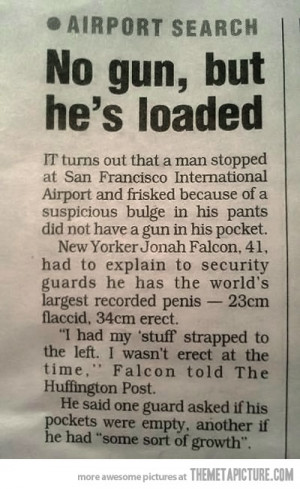 Funny photos funny newspaper article airport security