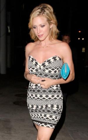 Brittany Snow wears Myne Indiana Strapless Mini Dress