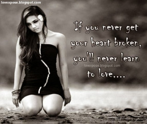 broken heart image with quotes