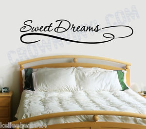 SWEET-DREAMS-Inspirational-Quote-Removable-Vinyl-Wall-Art-Quotes-Decal ...