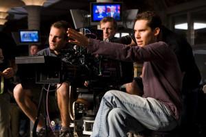 Director BRYAN SINGER lines up a shot on the set of Warner Bros ...