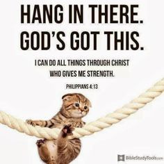 Hang in there. God's got this! More