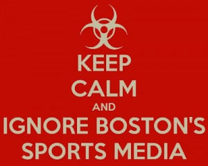 Speak Out Against The Boston Sports Media This Weekend
