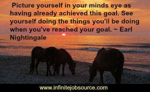 ... you'll be doing when you've reached your goal. ~ Earl Nightingale