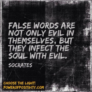 evil in themselves but they infect the soul with evil socrates