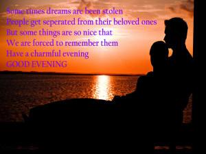 Good Evening Quotes Wallpaper : good evening