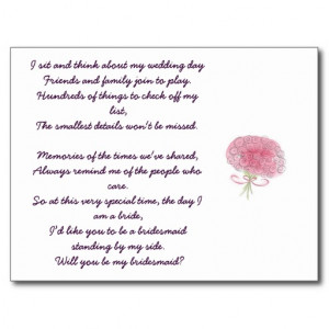 Will You Be My Bridesmaid Poem For Cousin Will you be my bridesmaid ...