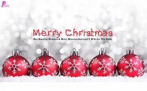 Christmas Balls Christmas Greetings Quote Wallpaper Wide 2560x1600