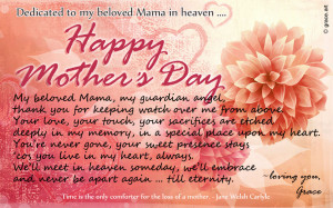 To my beloved Mama in heaven