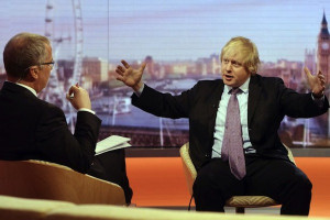 Boris Johnson goes head-to-head with Eddie Mair. Photo: BBC