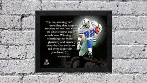 Emmitt Smith Dallas Cowboys NFL Pro Quotes Framed 8x10 Photo #2 ...