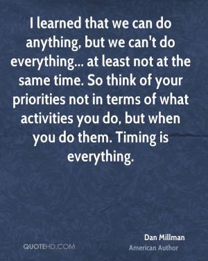 Dan Millman Time Quotes